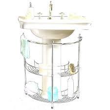Bathroom Pedestal Sink Storage Sink Pedestal Storage Brilliant White Wood Sink