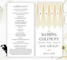 deco wedding program deco wedding print deco wedding poster unique wedding
