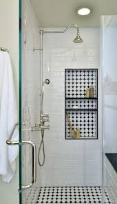 bathroom best recessed shower shelf ideas on cleaning