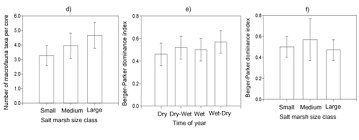 density of table salt effects of plant cover on the macrofauna of spartina marshes in