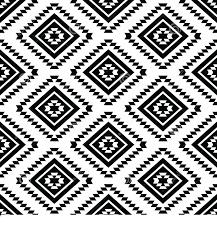 tribal seamless pattern aztec black white vector ornament ethnic