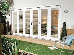 Marvin Sliding Patio Door by Sliding Glass Door With White Wooden Frame Combined Brown Drapery