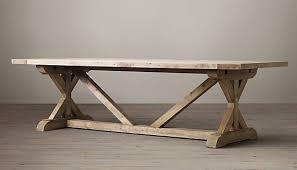 restoration hardware sofa table trestle table restoration hardware project ideas