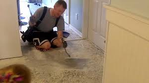 removing tile mortar from my concrete floor youtube