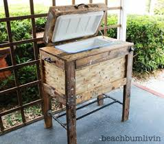 Ana White Patio Furniture Rustic Wood Cooler Box Made From Pallets Free Plans At Ana White