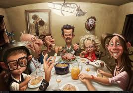 a thanksgiving dinner with s family artist unknown