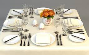 Dining Table Set Up Images Food And Beverage Services Sops