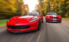 chevrolet corvette grand sport and ford mustang shelby gt350