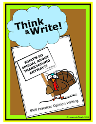 thanksgiving turkey opinion writing packet color by lessons to teach