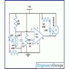 circuit diagram for door security alarm using opam security