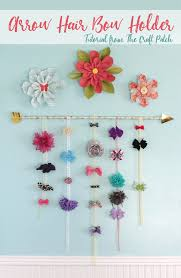 bow holder the craft patch diy arrow hair bow holder