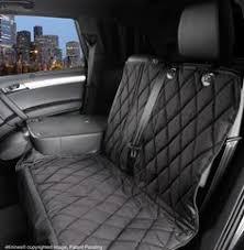 split rear seat cover for dogs black regular fitted nonhammock