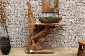 Holzarten Moebel Kombinieren Ideen Waschtisch Aus Holzbalken Rustikale Badezimmer Design Ideen