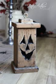 handmade from old recycled pallet wood halloween jacko