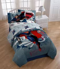 superman steel man twin bed sheet set 3pc kids super hero
