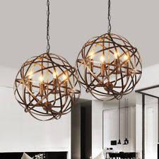 Candle Pendant Light Rustic Primitive Wrought Iron Pendants Fixtures Ebay
