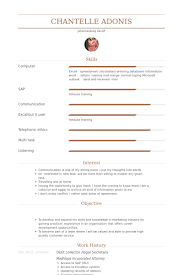Legal Assistant Resume Examples by Legal Secretary Resume Samples Visualcv Resume Samples Database