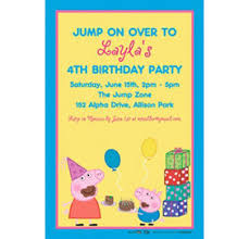 custom peppa pig invitations u0026 thank you notes party city