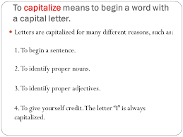 capitalization common and proper nouns and adjectives ppt download