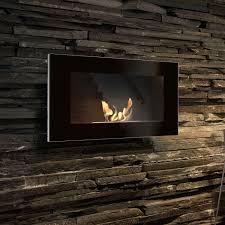 chimenea de bioetanol moderna hogar cerrado de pared