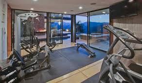 inspiring home gym interior design with glass wall home interior
