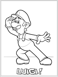 luigi coloring pages coloring pages online