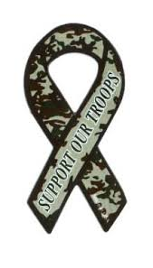 camouflage ribbon mini camo support our troops ribbon magnet