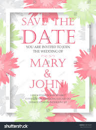 wedding invitation card templates flower concept stock vector