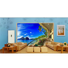 3d photo murals wallpaper for walls diy balcony mountain ocean