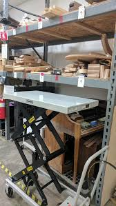 new hydraulic lift table cart workshop dallas makerspace talk