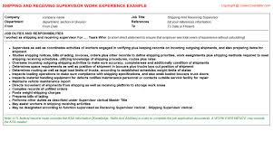 Receiving Clerk Job Description Resume by Shipping And Receiving Clerk Cv Work Experience Samples