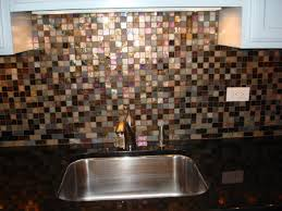 picturesque glass tile back splash in bathroom with mosaic glass