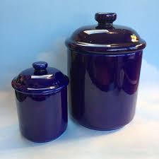 28 blue kitchen canister set rare 60s blue willow metal