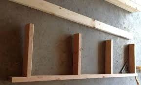 Building Wood Shelves Garage by Cheap And Easy Diy Shelves For The Basementhow To Build Wood