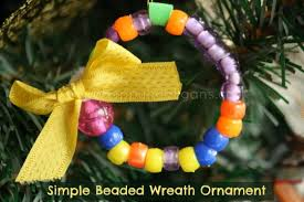 beaded wreath ornament for happy hooligans