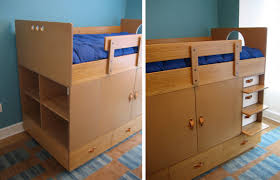 Loft Bed With Closet Underneath Intricate Bed With Closet Underneath Modern Ideas Loft Home Design