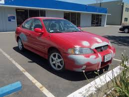 red nissan sentra auto body collision repair car paint in fremont hayward union city