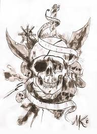 the 25 best pirate skull tattoos ideas on pinterest pirate
