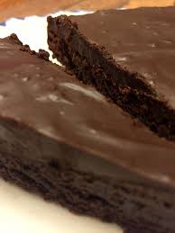 flourless gluten free chocolate cake with chocolate ganache glaze