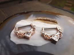 gold nipple rings images 14g rose gold nipple rings 16g 1 2 quot hinged clicker pair ring cz jpg