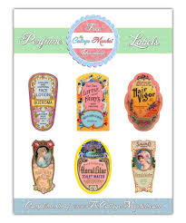 vintage perfume label digital images printables free on thankful