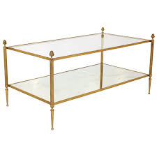 Mirror Glass Coffee Table by Brass U0026 Glass Coffee Table By Maison Bagues French Vintage