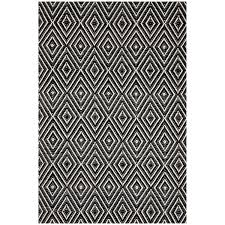 Dash And Albert Outdoor Rugs by Dash U0026 Albert Diamond Black Ivory Indoor Outdoor Rug