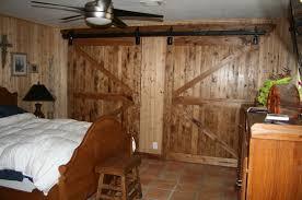 Rustic Closet Doors Bedroom Barn Style Rustic Bedroom Ideas With Bifold Closet Doors