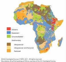 Map Of Sub Saharan Africa Africa Groundwater Atlas British Geological Survey Bgs