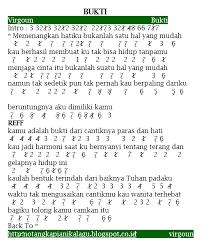 tutorial gitar lagu virgoun bukti angka pianika lagu virgoun bukti