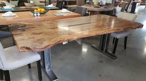 live edge table west elm tables eternal timber and design live edge dining table north star
