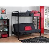 Wood Bunk Bed With Futon Amazon Com Metal And Wood Twin Futon Bunk Bed Kitchen U0026 Dining