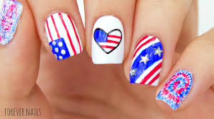 fourth of july nails easy 4th of july nail designs youtube