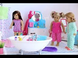 Big Barbie Dollhouse Tour Youtube by American Doll Bathroom Toilet Vanity Shower Bath Hd